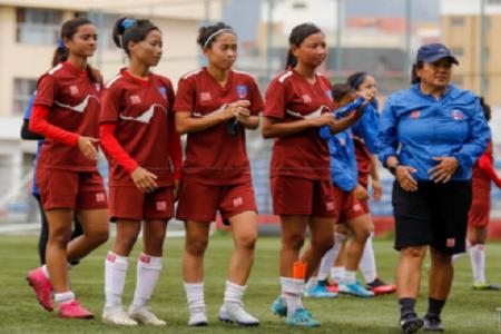 महिला फुटबल : नेपाल बंगलादेशबीच खेल आज हुँदै